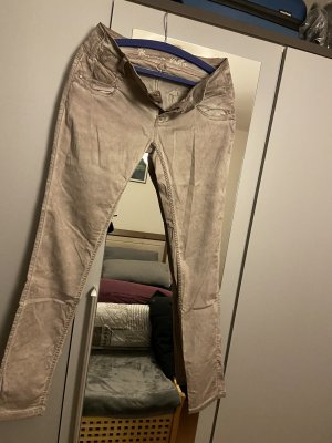 Spodnie biodrówki kremowy