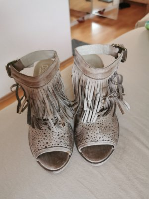 Outdoor Sandals silver-colored-grey brown leather