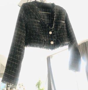 coco Tweed Blazer black-gold-colored