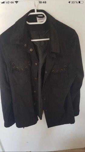 Gina Benotti Faux Leather Jacket black mixture fibre