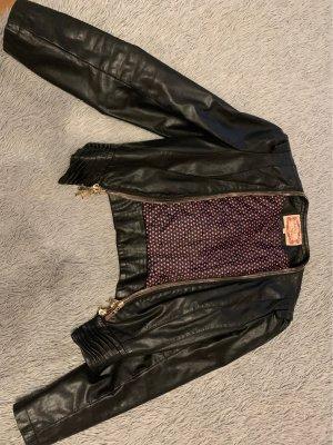 Leather Blazer black-gold-colored