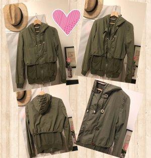 0039 Italy Jack met capuchon khaki-groen-grijs