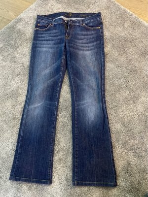 7 For All Mankind Spijker flares donkerblauw