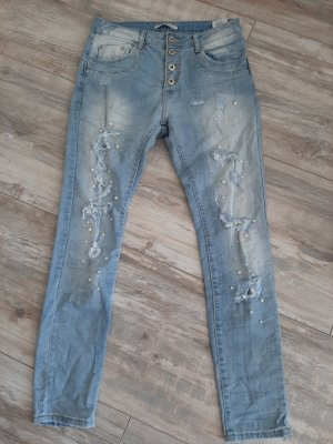keine Biker Jeans azure
