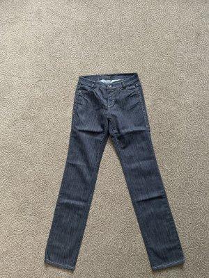 Marc Cain Jeans a gamba dritta blu scuro