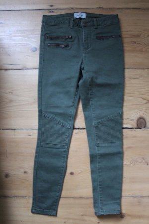 New Look Petite Jeans da motociclista verde scuro