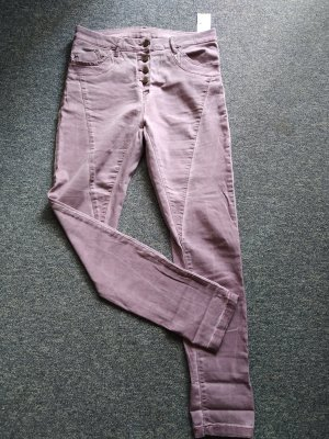 Janina Jeans a sigaretta rosa-rosa pallido Cotone