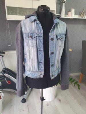 Blind Date Jeansowa kurtka szary-błękitny