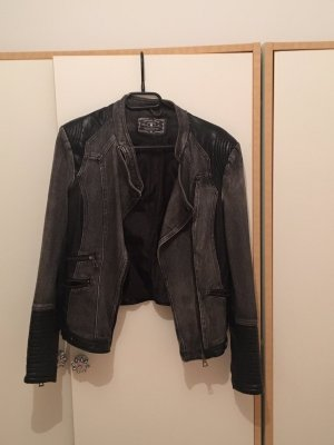 Amisu Denim Jacket black-grey