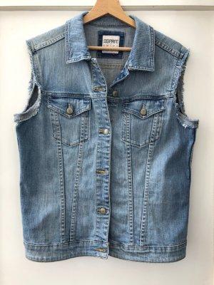 Esprit Gilet en jean multicolore coton