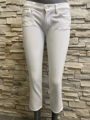 7 For All Mankind Jeans a sigaretta bianco