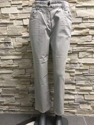Chicc Stretch jeans lichtgrijs-zilver