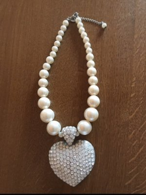 keine Marke Collier Necklace white-silver-colored