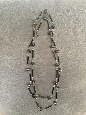 4U Link Chain black-silver-colored