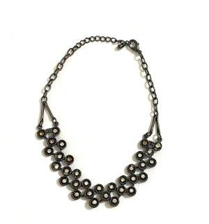 Vintage Collier noir-argenté