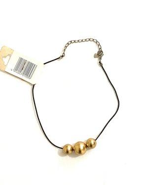 Vintage Necklace gold-colored-black