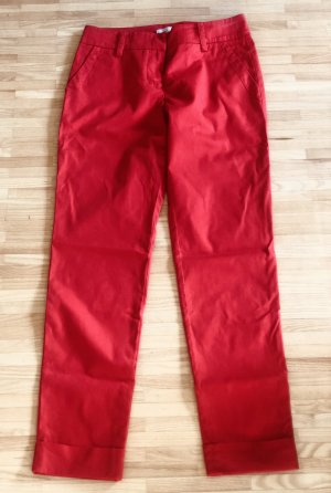 Stefanel 7/8 Length Trousers red cotton