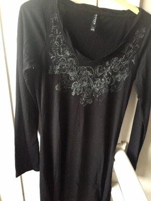 Blouse Dress black-light grey