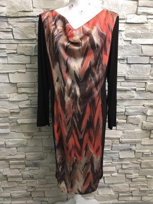 Alba Moda Vestido de chifón multicolor