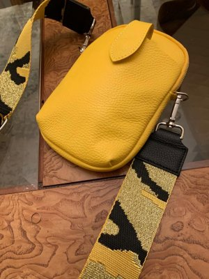 Börse in Pelle Crossbody bag yellow-black leather