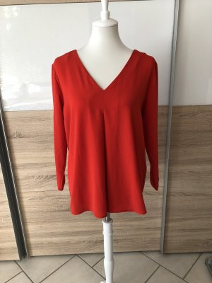 Only Slip-over Blouse red-bright red