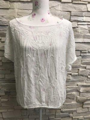 Schöne Kurzärmlig Bluse  von  Cream Gr 42