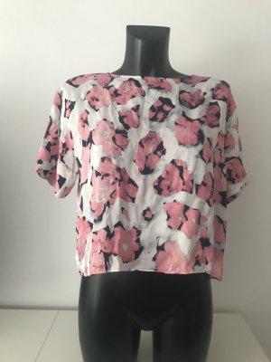 Schöne kurzarm Bluse mit Blumenprint
