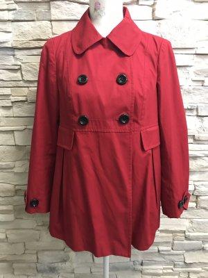 Promod Krótki płaszcz ciemnoczerwony
