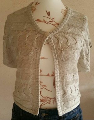 Studio E.B. Bolero lavorato a maglia beige chiaro