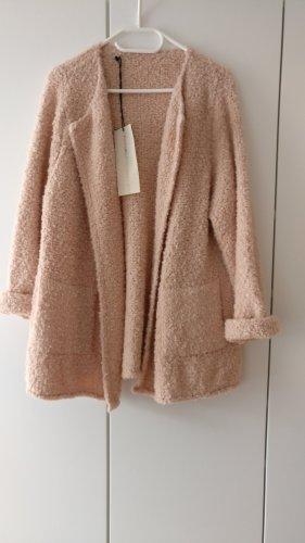 Schöne kuschelige dicke Strickjacke,Long Cardigan,(Alt-)rosa,NEU