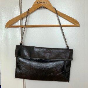 Schöne L. Credi Clutch Umhängetasche Tasche Leder Schwarz mit 2 Umhängegurten
