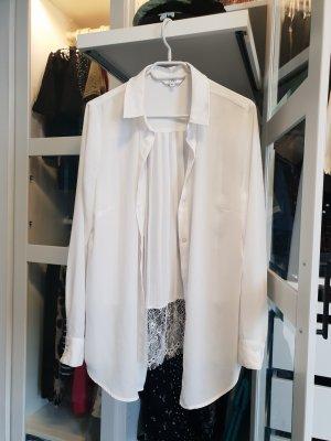 linci Blusa in merletto bianco