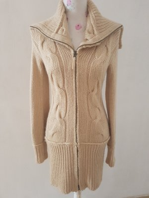 Apart Knitted Coat gold-colored-beige