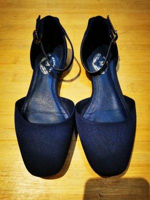 Schöne Leder-Seiden Schuhe