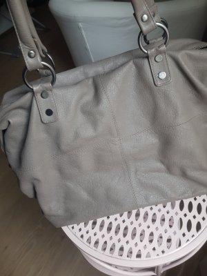 schöne Leder Tasche taupe guter Zustand