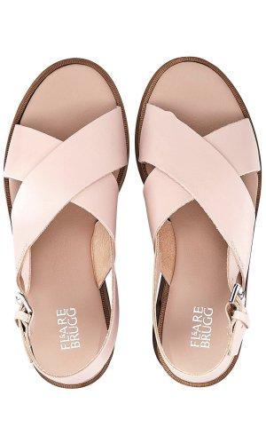 Flare Brugg Platform Sandals beige-white