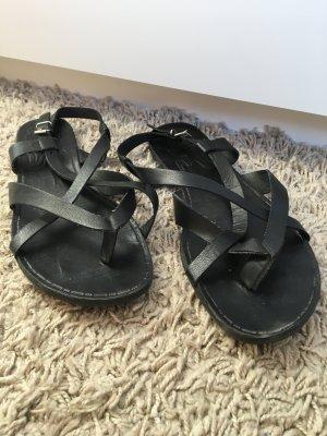 Vagabond Sandały rzymskie czarny Skóra