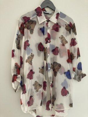 Schöne, leicht transparente Bluse mit hübschem Design