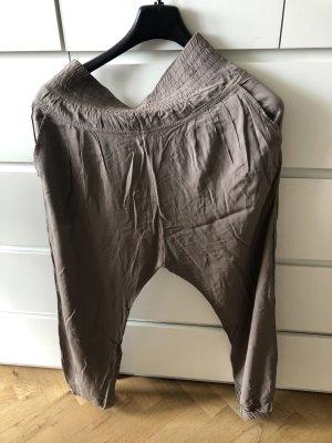 Hallhuber Pantalón estilo Harem marrón grisáceo
