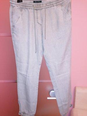 Marco Polo Pantalone di lino verde-grigio Lino