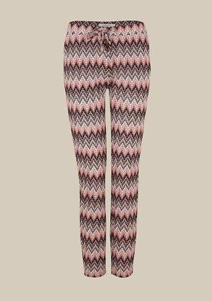 Schöne Lounge Pants von Comma mit Missoni-ähnlichem Zickzack-Muster - Gr. 36 - NEUWERTIG