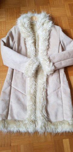 Biaggini Geklede jurk room-licht beige