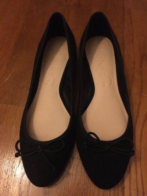 Mango Patent Leather Ballerinas black