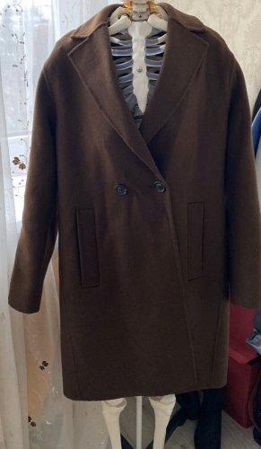 Hallhuber Abrigo ancho marrón-marrón oscuro