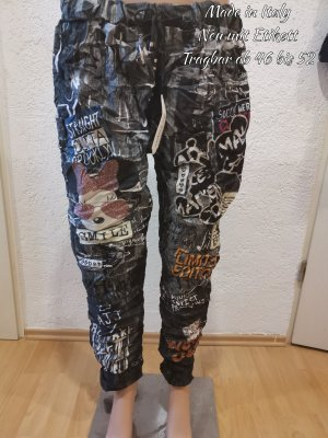 Made in Italy Pantalon large noir