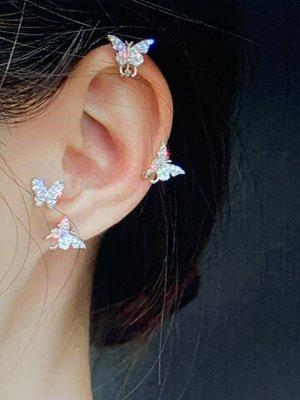 Schöne Minimalistischen Schmetterling Ohrringe, Ohne Durchbohrten Ohr Clips# TopShop