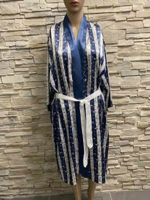 Joy Robe de bain blanc-bleu