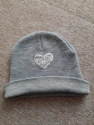 Ernstings Family Chapeau en tricot blanc-gris