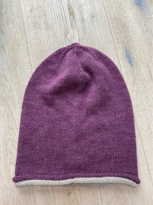 Knitted Hat grey lilac-light grey