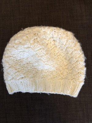 H&M Gorro tejido blanco-blanco puro